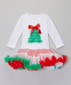 Take a look at this Red Christmas Tree Pettiskirt Dress  by Royal Gem Clothing on #zulily today!