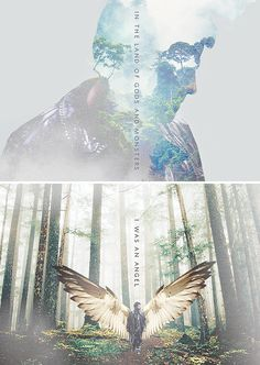 Castiel: in the land of gods and monsters i was an angel living in the garden of evil #spn