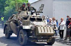 A restored SdKfz 222 light armored car