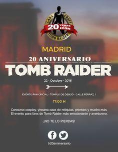 Inscribete grutuitamente al evento en el facebook oficial tr20anniversario  #Madrid #eventos #gmae #gamers #gemrboy #gamergirld #tombraider #riseofthetombraider #LaraCorft #juegos #videojuegos #templodebod #debod #yincana