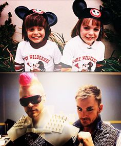 See , these guys went to DisenyLand and turned into some real cartoons! the love of  Jared and Shannon Leto.