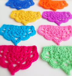 Ravelry: poppyandbliss' Half Lotus Bunting - from free pattern by Annie Soutter - free Ravelry download here: http://www.ravelry.com/patterns/library/half-lotus-bunting