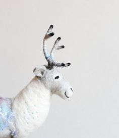 Felix  Felt Reindeer. Art Toy Felt Deer  Stuffed by TwoSadDonkeys