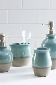 Risultati immagini per pottery toothbrush holder blue white
