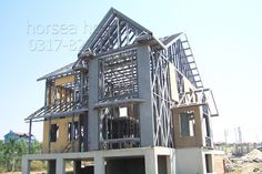 China Low Cost Easily Assembled Mobile for Sale Building A House, Multi Story Building, French Architecture, Steel House, Steel Buildings, Steel Frame, Iron, Construction, House Design