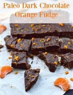 Paleo Dark Chocolate Orange Fudge! Sooo yummy!