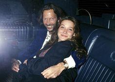 EC and Carla Bruni, ca. 1989.  via Slow