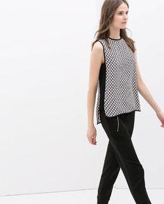 Zara a/w 2014 2015 Stylish Shirts, Mom Outfits, Blouse Online, Zara Tops, Zara Women, Dress Me Up, Dress To Impress, Shirt Style, Creations