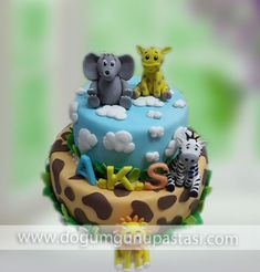 sevimli hayvancıklar pastası #dogumgunupastasi #birthdaycake