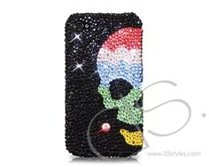 Skull Sky Bling Swarovski Crystal Phone Cases   #Swarovski    #PhoneCase    http://www.dsstyles.com/iphone-4-and-4s-cases/swarovski-series-skull-sky-bling-swarovski-crystal-phone-cases.html?src=pinterest