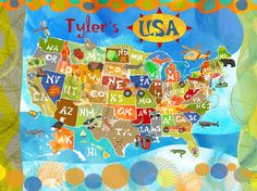 Explore the USA! - Personalized Canvas Wall Art | Oopsy daisy