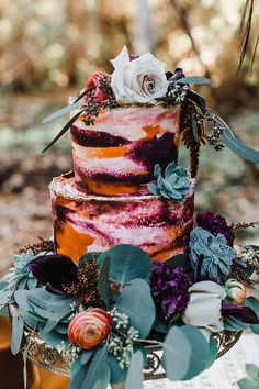 Forest Wedding, Boho Wedding, Wedding Blog, Wedding Ideas, Wedding Cake Designs, Wedding Cake Toppers, Wedding Cakes, Creative Wedding Inspiration, Bohemian Wedding Inspiration