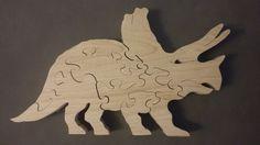 """Puzzle Animaux Préhistoriques """" Le Tricératops """""""