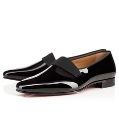 """""""Smoker Flat"""" is an ultra-sophisticated gentleman's smoking slipper. His pristine patent leather upper is adorned with a subtle ribbon detail. Perfect for any formal affair, this style's understated elegance makes for a sublime accompaniment to your tuxedo."""