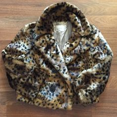 Faux Leopard print jacket Beautiful faux leopard inspired Loft jacket! The vegan fur is super soft to the touch and the silky lining makes the jacket slide right on! LOFT Jackets & Coats Blazers