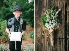 Love this buttonhole. Image by Leslie Hollingsworth via Green Wedding Shoes.