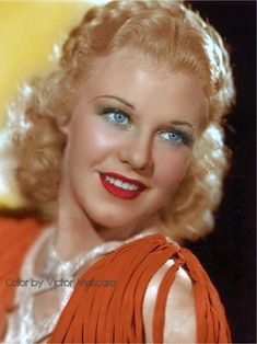 Ginger Rogers The Gay Divorcee Ginger Rogers, Golden Age Of Hollywood, Hollywood Actresses, Dancer, Glamour, Beautiful, Color, Front Row, Virginia