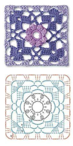 Crochet granny square                                                                                                                                                                                 Mais
