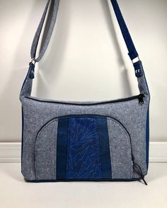 42f1af429ada3 Custom made Prairie Girl Bag in denim and cork with some  libselliott  Tattooed fabric accents