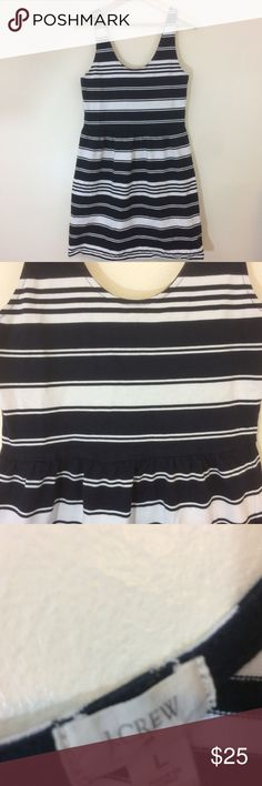 """J. Crew Navy Blue White Striped Sailor Dress Adorable J. Crew dress, missing half of the clasp at the top.  Cute buttons on the back!  All measurements are approximate, if you would like any other measurements or if you have any questions please feel free to send me a message!  Thanks!  Bust: 17""""  Waist: 32""""  Length: 38""""  C57 J. Crew Dresses"""