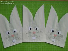 Easter bunnies made from sandwich bags - Easter bunnies made from sandwich bags – stamp blobs – stamping, punching and handicrafts with - Easter Egg Dye, Coloring Easter Eggs, Hoppy Easter, Easter Party, Easter Gift, Easter Bunny, Bunny Bait, Stampin Up, Rabbit Silhouette