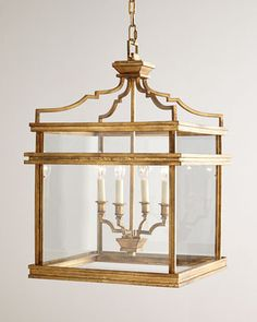 Bevolo French Quarter Lantern On Hanging Chain Lanterns
