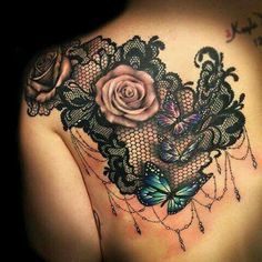 Love the lace effect. Would use a different flower.