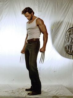 Logan / Wolverine played by Hugh Jackman in The X-Men 1,2,3 And in wolverine
