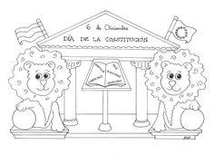 Maestra de Infantil: Fichas para colorear la Constitución Española Worksheets, Kids Rugs, Drawings, Blog, Crafts, Character, Decor, Google, Empire State