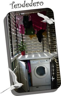 Lavadero exterior laundry pinterest laundry patios for Decorar lavadero exterior