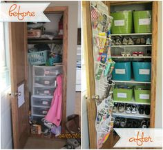 IHeart Organizing: Reader Space: A Hard Working Closet!