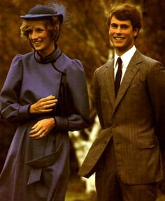 Diana and a young Prince Edward.
