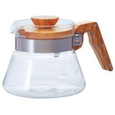 サーバー コーヒーサーバーオリーブウッド 耐熱ガラスのHARIO