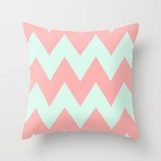 Big+Chevron+(Coral++Mint)+Throw+Pillow+by+dani+-+$20.00