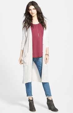 Free People Stripe Pocket Long Cardigan available at #Nordstrom ...