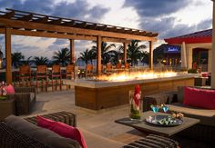 Romanitic firepits are located through out the resort. #sandals #stlucia
