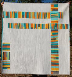 Fact or Fiction Quilt by Karen, an original design featured on her  blog - excellent use of negative space