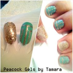 Practice Inspiration Gel and Polish. Glitter Aztec For Manicure And Pedicure