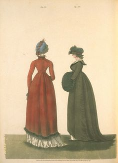 Morning Dresses, December 1801, Gallery of Fashion