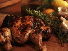 Pollo al Mattone from Extra Virgin.... This recipe demonstrates flattening the chicken by breaking back bone