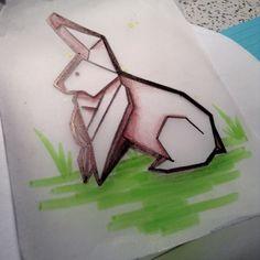 origami rabbit sketch - Google Search