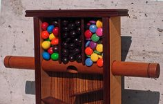 Such a cute little candy dispenser. I want to make one.