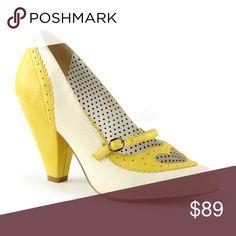 "Dapper Girl Pin Up Shoes High Heels Vintage Style Dapper Girl Pin Up Shoes High Heels Vintage Style 3 3/4"" Heel POPPY-18 Shoes Heels"