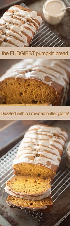 Moist and Fudgy Pumpkin Bread Recipe Best Pumpkin Bread Recipe, Pumpkin Recipes, Fall Recipes, Yummy Recipes, Dessert Bread, Dessert Recipes, Yummy Treats, Yummy Food, Delicious Desserts
