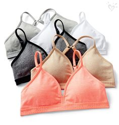 Our oh-so-soft T-shirt bras come in every color she needs.