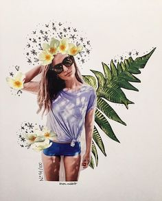 jcrew flower collage by kate rabbit - No. 51/100