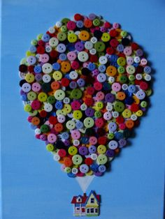 Button art house from the movie Up. My second button art project. Design by KD.