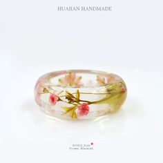 Aliexpress.com : Buy Huajian  Handmade  Bracelet with Real Dried Flowers Arc Width 25mm Free Shipping HJ061D from Reliable bracelet aluminium suppliers on Huajian Jewelry  | Alibaba Group