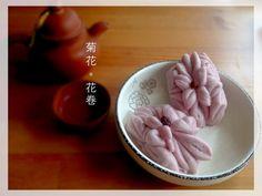 Lyric Loves  ... ...: 造型包點~菊花花卷 紫薯蒸包