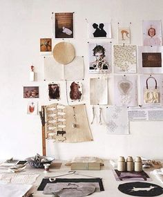 moodboard at the desk